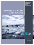 tiempo, clima, y cambio climatico - Learning for a Sustainable Future