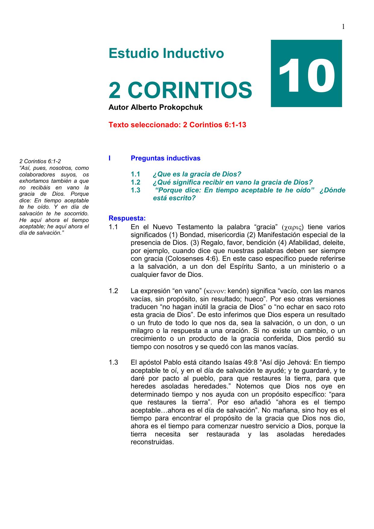 2º Corintios 6 1 13 Iglesia Bautista Pueblo Nuevo