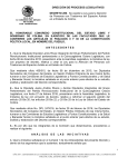 EL HONORABLE CONGRESO CONSTITUCIONAL DEL ESTADO