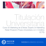 Curso en Marketing de la Moda: Experto en Marketing Retail