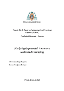 Marketing experiencial. Proyecto FINAL