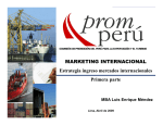 MARKETING INTERNACIONAL Estrategia ingreso