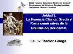 Grecia, cuna de la Civilización Occidental.