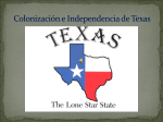 Colonización e Independencia de Texas