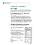 PE104S Low Fat Diet - Spanish