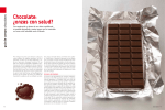Chocolate: ¿onzas con salud? - Revista