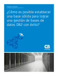 CA DATABASE MANAGEMENT FOR DB2 FOR z/OS