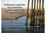 Institutional capacities and constraints to urban water reuse: The