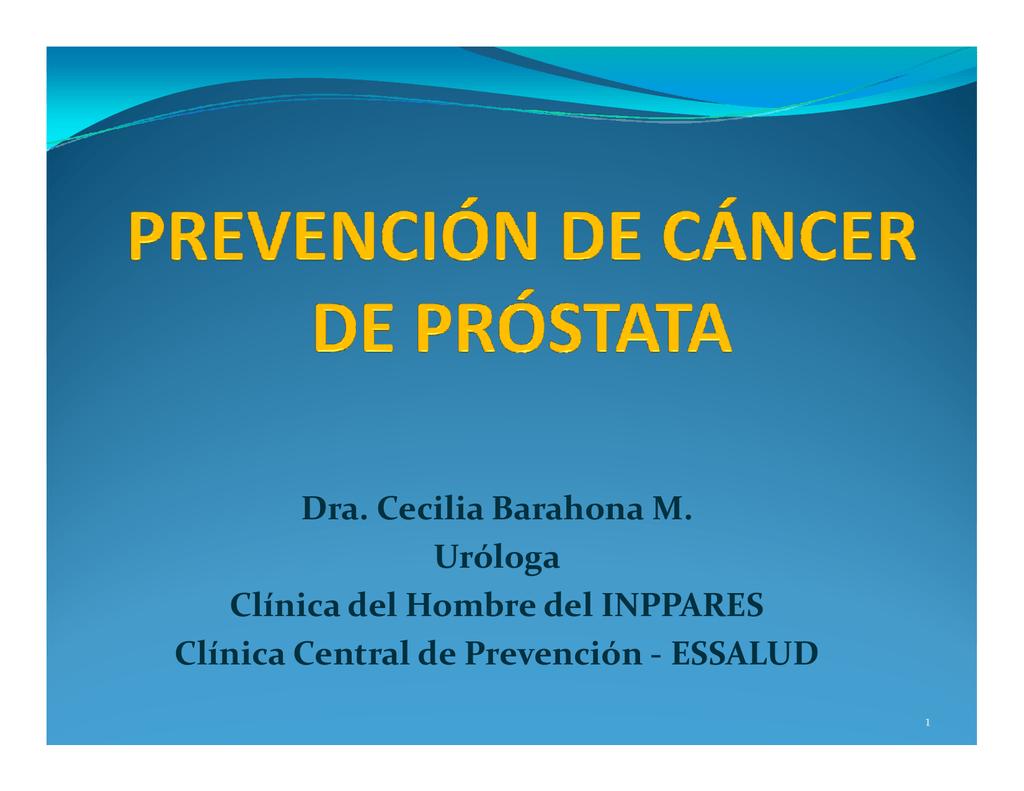 cancer de prostata prevencion secundaria