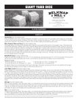 Belknap Hill Trading Post Giant Yard Dice Instructions
