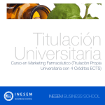 Curso Universitario en Marketing Farmacéutico + 4 Créditos ECTS