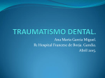 TRAUMATISMO DENTAL.