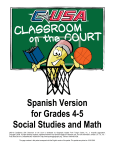Spanish Version for Grades 4-5 Social Studies and Math